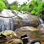 Cachoeira dos Três Tombos em Ilhabela