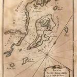 Mapa antigo de Ilhabela